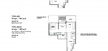 leedon-green-floor-plan-1-bedroom-study-type-as2-as3-singapore